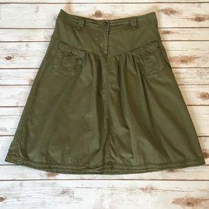 H&M Green High Waist Skirt Size 10